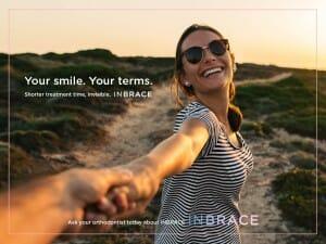 Inbrace is a treatment service at Miller Orthodontics, Inbrace ad